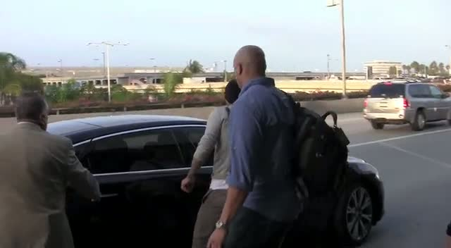 David Beckham Gets Picked Up From LAX