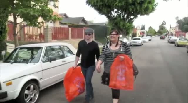 Glee Stars Chris Colfer And Ashley Fink Buying Toys In LA