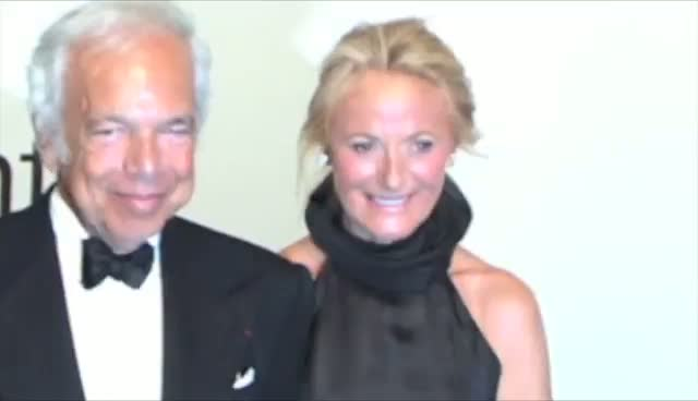 Ralph Lauren's Glamorous Family Pose On The Red Carpet - An Evening With Ralph Lauren Hosted By Oprah Arrivals Part 1