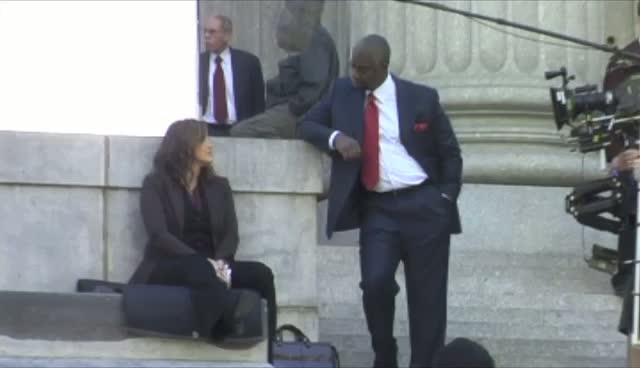 Mariska Hargitay and Andre Braugher Filming In Manhattan