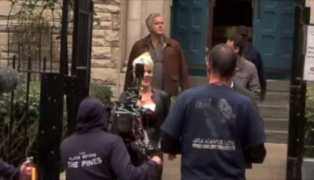 Pink and Tim Robbins Shooting In New York - Celebrities On Set Of Thanks For Sharing Part 1