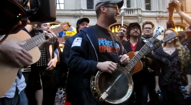 Sean Lennon And Friends Cover Material Girl At Occupy Wall Street