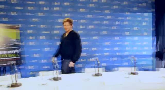 Brad Pitt At Moneyball Press Conference