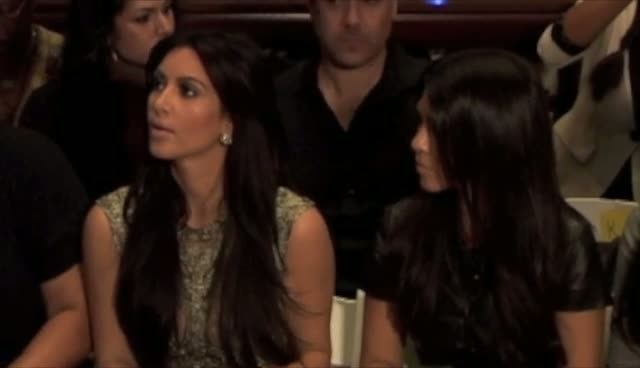 Kim Kardashian Seen On Her Phone During Fashion Show - New York Fashion Week 2011 Sherri Hill Show Part 1