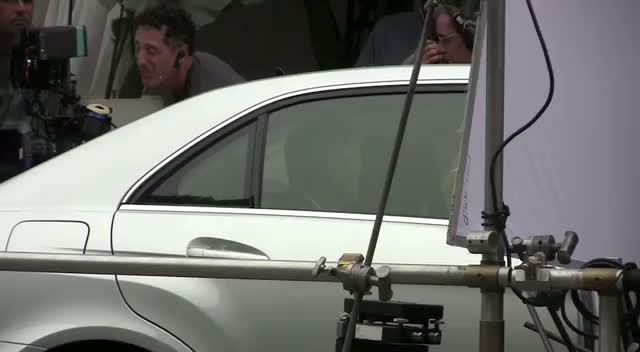 George Clooney Driving New Mercedes