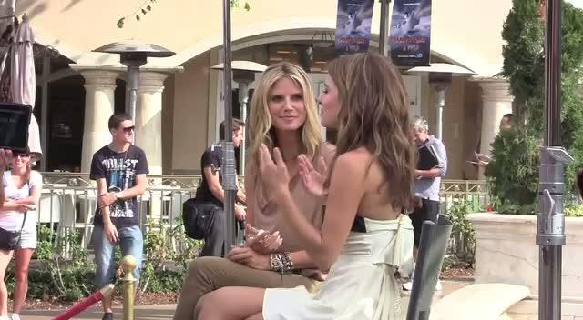 Heidi Klum Filming For Extra