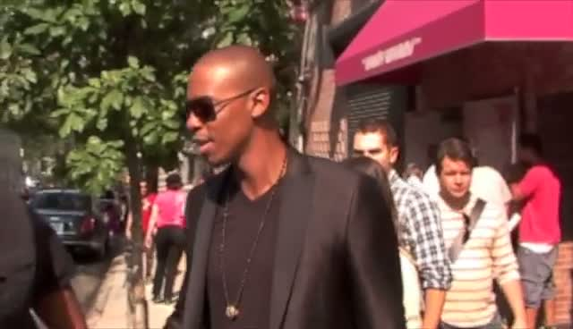 Former Model Mehcad Brooks Poses Outside 'The Wendy Williams Show'