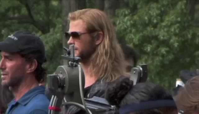 The Avengers Cast Seen In Manhattan - The Avengers In New York Part 1