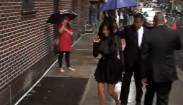 The Kardashian Sisters Arrive At 'The Late Show'