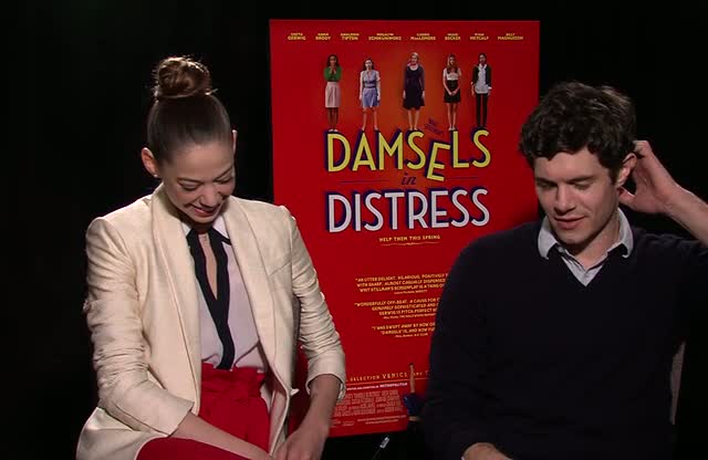Adam Brody and Analeigh Tipton Talk Damsels In Distress - Damsels In Distress Press Junket Part 1