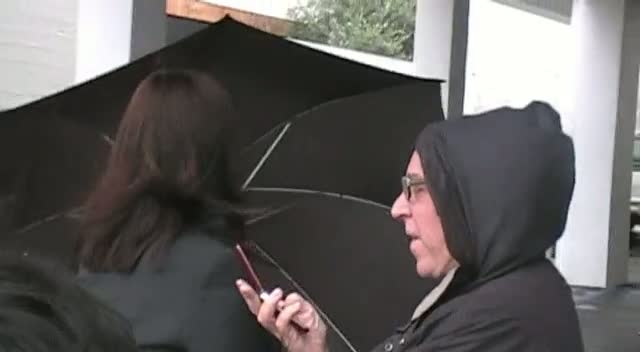 Anjelica Huston Braves The Rain After Dinner Date