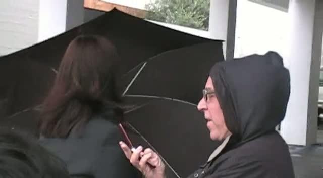 Anjelica Huston Braves The Rain After Dinner Date