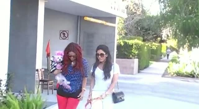 Aubrey O'day And Melissa Molinaro Leave Toast With Canine Friends