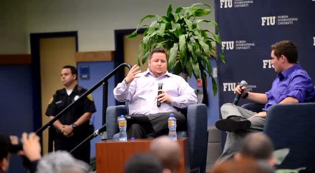 Chaz Bono Holds Lecture For Students At Florida International University