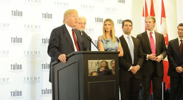 Donald Trump Presents Conference At One Of His Hotels
