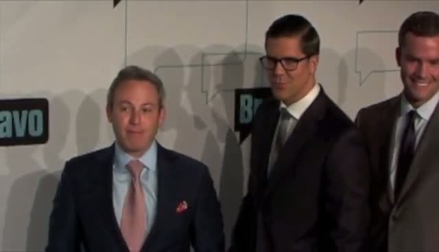 Fredrik Eklund And Reza Farahan Fly The Pink Flag For Bravo - Bravo Upfront 2012 At Center 548 Part 2
