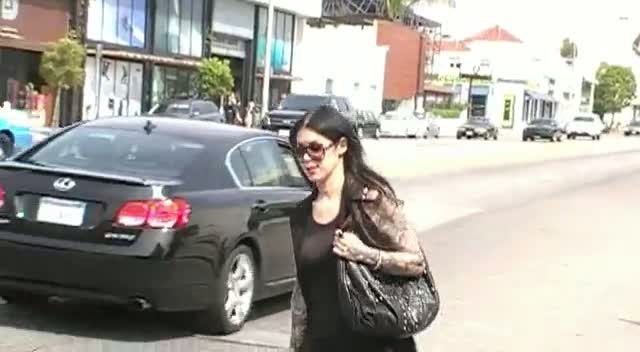 Kat Von D Walks To Her Car In Hollywood