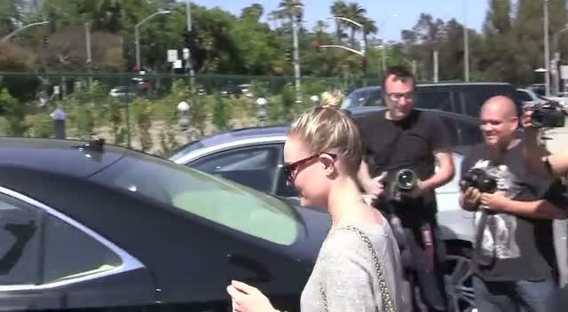 Kate Bosworth Leaves LA Salon In See Through Dress