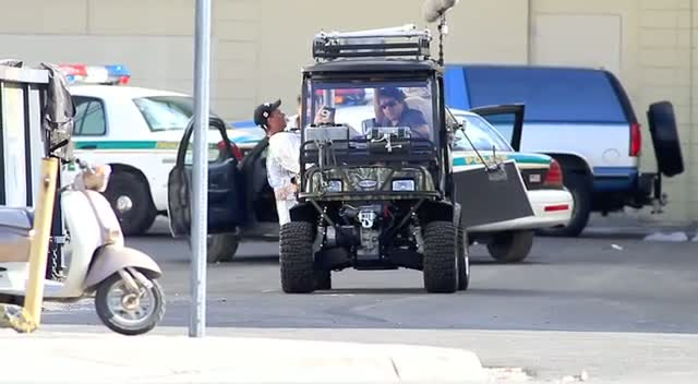 Mark Wahlberg Films Chase Scene For...