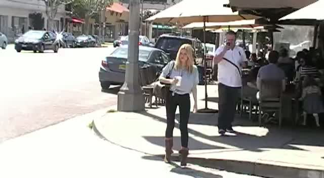 Sophie Monk Talks 'Kim' At Kings Road Cafe In West Hollywood