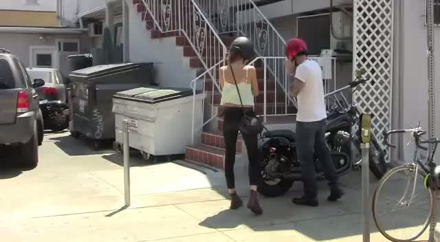 Adam Levine Takes His Girlfriend For A Spin On His Motorcycle
