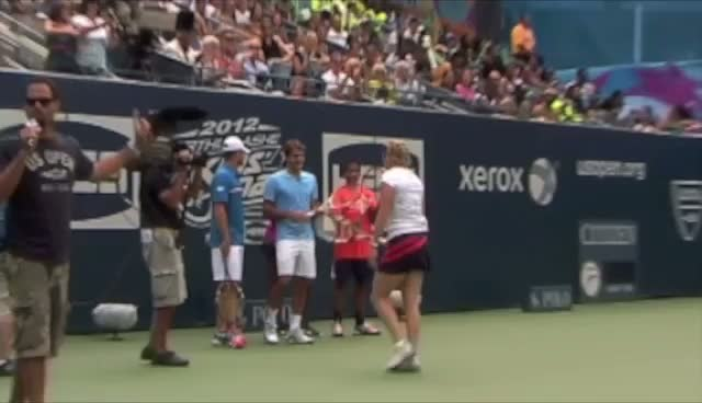 Andy Roddick, Serena Williams And Roger Federer Join In The Fun At Arthur Ashe Kids Day