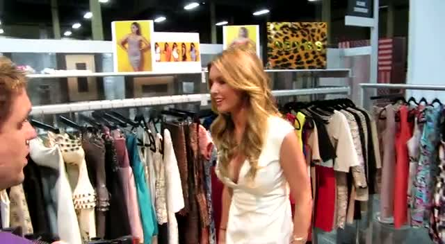 Audrina Patridge Shows Off Abby Kheri Clothes At MAGIC Fashion Tradeshow