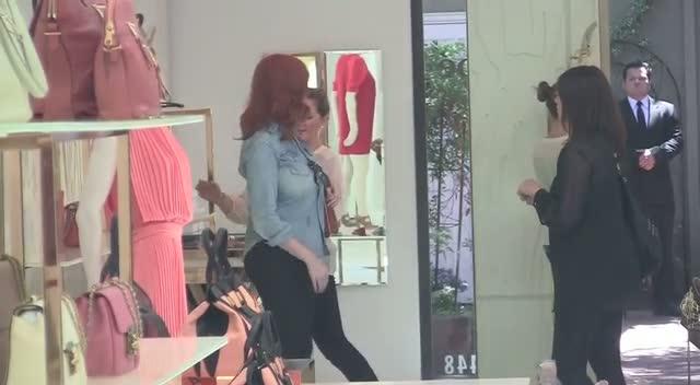 Christina Hendricks Ignores Tony Scott Questions On Beverly Hills Shopping Trip