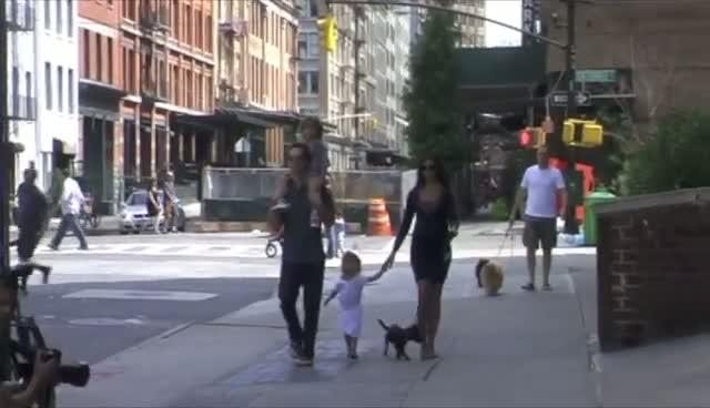 Matthew McConaughy Takes Family And Dog Out For A Stroll In New York