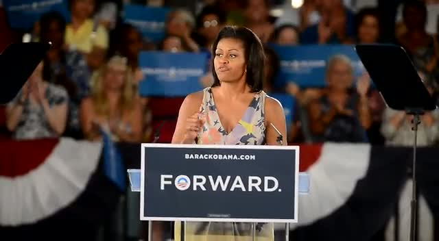 Michelle Obama Appeals To Her Audience On President Obama's Successes Whilst Being In Office