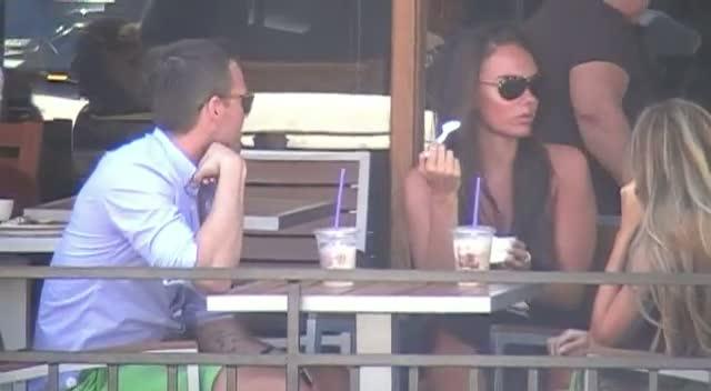 Tamara And Petra Ecclestone Enjoy Ice Cream With Male Friend