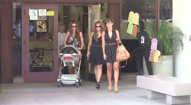 The Saturdays Take Baby Aoife Out Shopping In LA