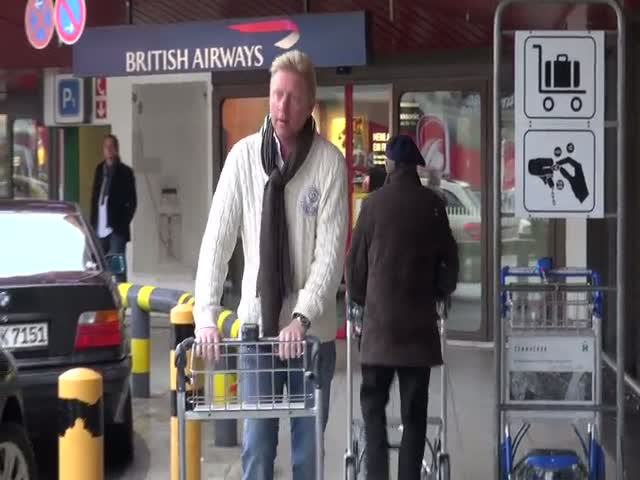 Boris Becker And Wife Lose Luggage At Berlin Airport