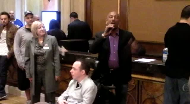 Montel Williams Makes Opening Speech For Celeb Poker Tournament