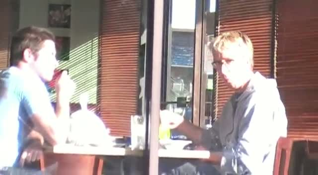 Andy Dick Dines Out At Vegan Restaurant