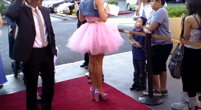 Angel Porrino Wows In Pink Tutu At Oscar Night America Las Vegas Event
