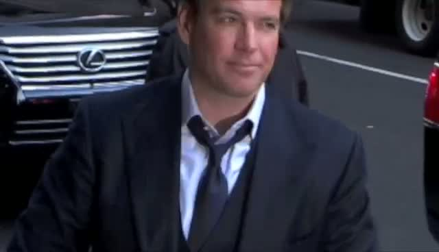 Michael Weatherly Plays Up To The Photographers