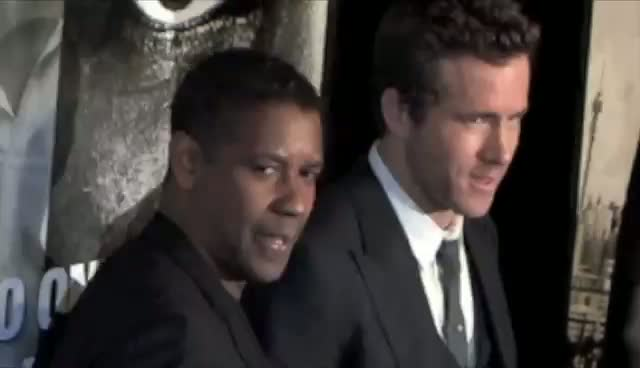 Ryan Reynolds And Denzel Washington Chat On The Red Carpet - Safe House New York Premiere Part 3