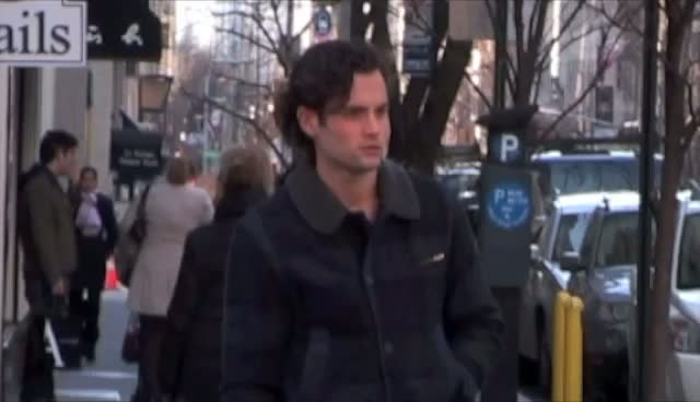 Penn Badgley Films Phone Conversation For...