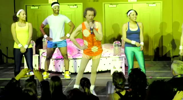 Richard Simmons Invites People On Stage To Lick Him - Richard Simmons Dance To Conquer Cancer Part 1