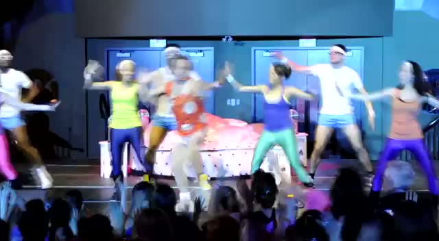 Richard Simmons Leads A Dance Routine -  Richard Simmons Dance To Conquer Cancer Part 3