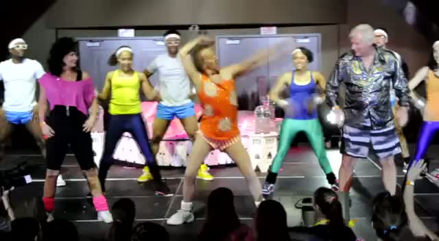 Richard Simmons Dances To Super Bass - Richard Simmons Dance To Conquer Cancer Part 4