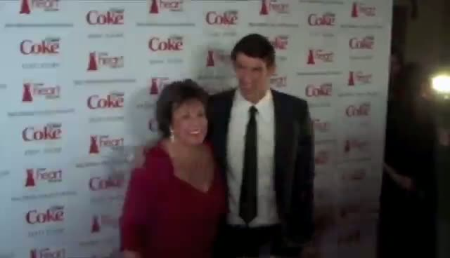 Michael Phelps Still A Mummy's Boy - The Heart Truth Red Dress Fall Collection 2012 Red Carpet Part 1