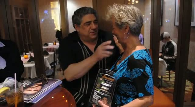 Vincent Pastore Kisses Fan On The Lips - Vincent Pastore Meets Fans At Seminole Casino Coconut Creek Part 2