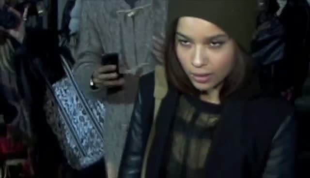 Zoe Kravtiz And Gisele Bundchen Leave 'Great' Alexander Wang Fashion Show