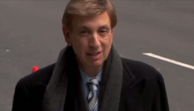 Marv Albert Walks To The Ed Sullivan Theatre