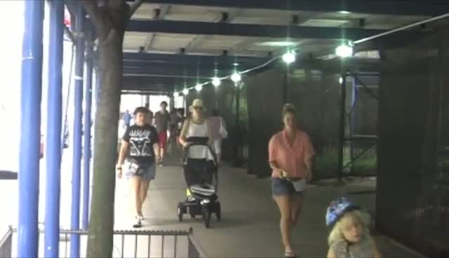 Gwen Stefani Walks Through New York While Her Kids Speed Around On Scooters Nearby