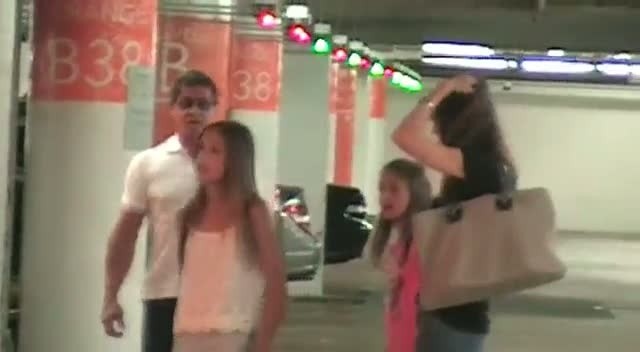 Sylvester Stallone Waves At Photographer As He Takes Family To The Mall