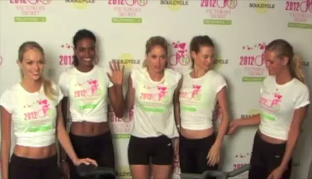 Victoria's Secret Models Pose For Cancer Research Cycling Fundraiser