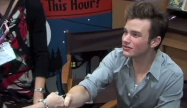 Chris Colfer Signs Copies of 'The Land of Stories' At New York Book Expo